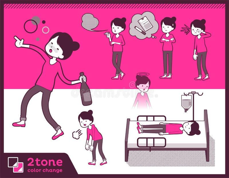 för bullehår för typ 2tone flåsanden utformar mom_set 10 vektor illustrationer