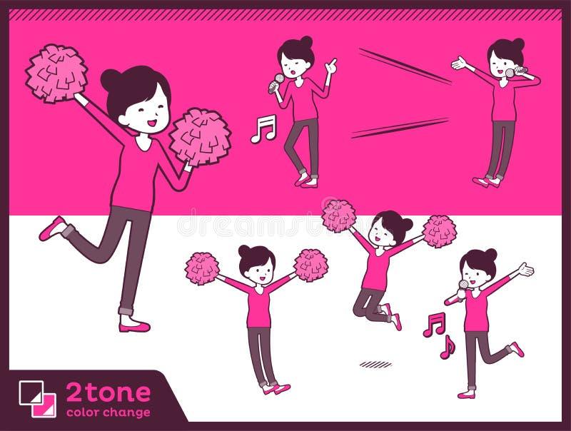 för bullehår för typ 2tone flåsanden utformar mom_set 07 royaltyfri illustrationer