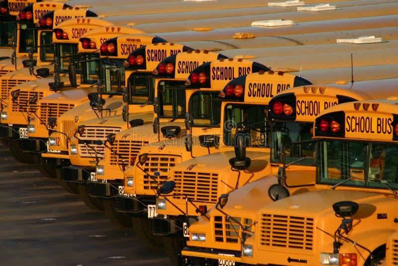 för buss skola mycket arkivfoto