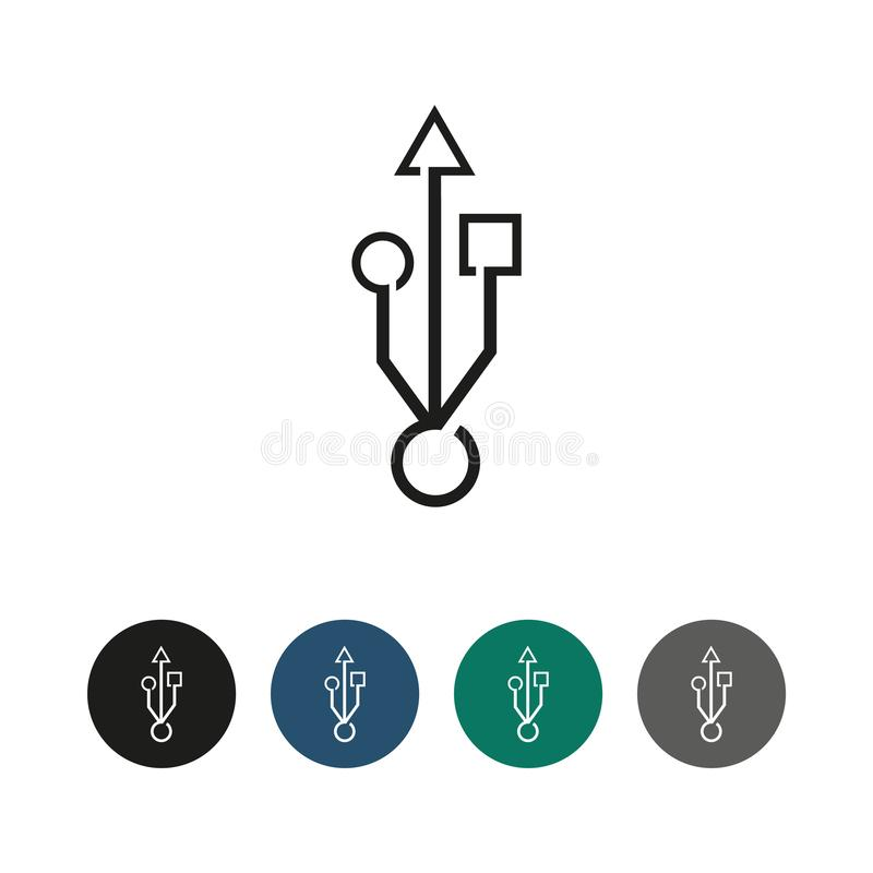 För busssymbol för universell följetong illustration för diagram för översikt royaltyfri illustrationer