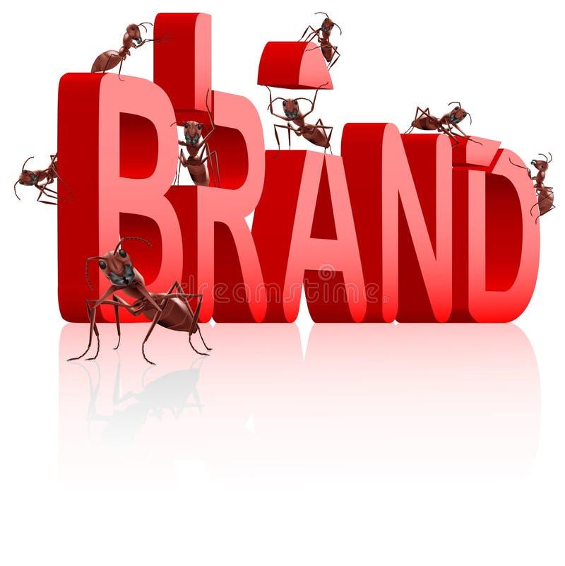 för byggnadsidentitet för märke brännmärka produkt för marknadsföring royaltyfri illustrationer