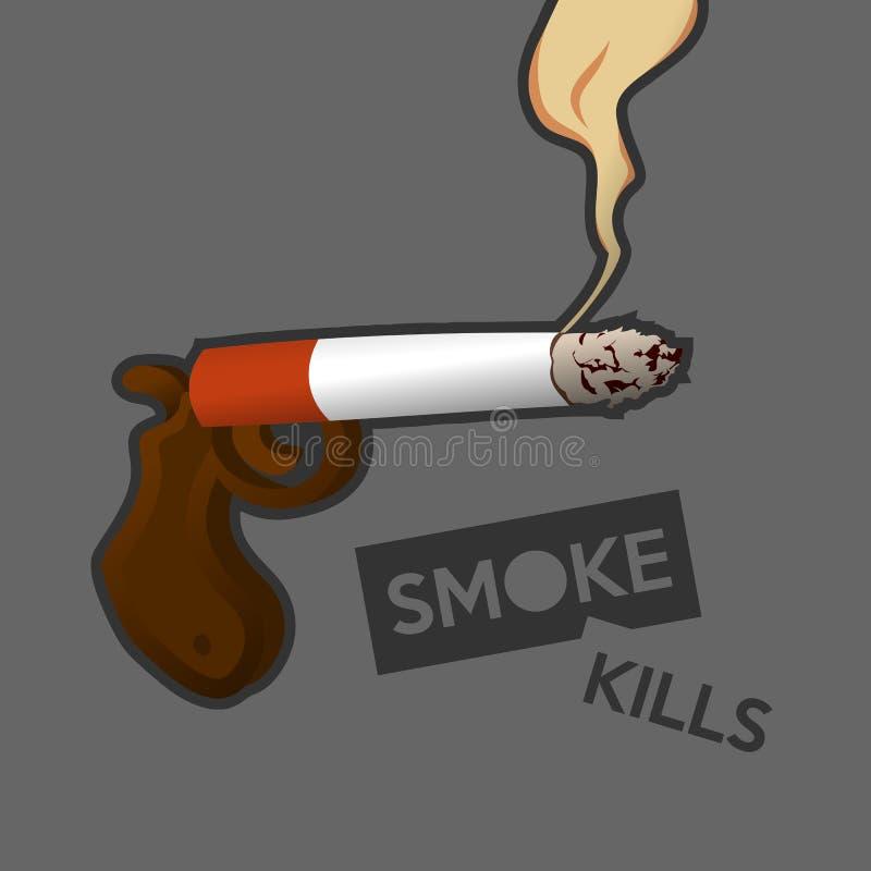 för byteman för cigarett sjuk rök arkivbild