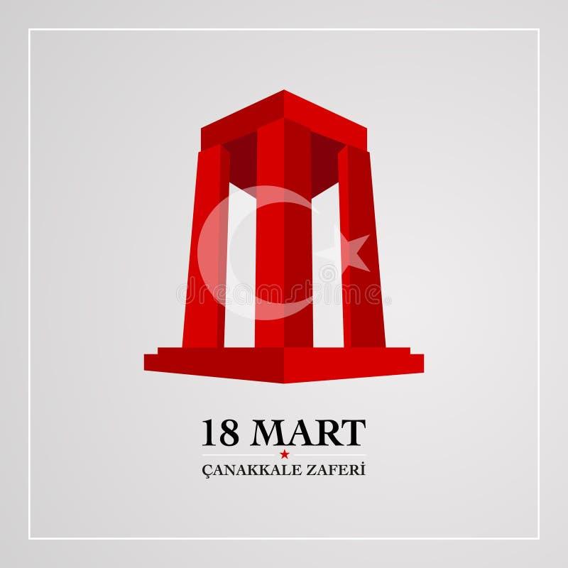 18 för canakkaleseger för marsch dag vektor illustrationer