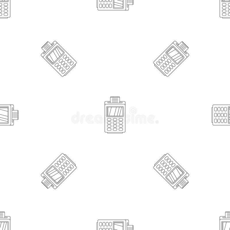För cashless sömlös vektor betalningmodell för terminal royaltyfri illustrationer