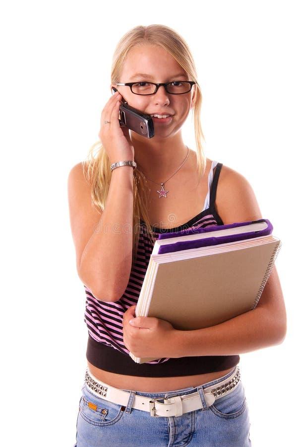 för celltelefon för 2 back skola till royaltyfria foton