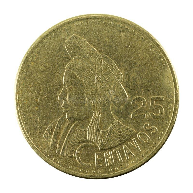 för centavomynt för 25 guatemalan avers 1998 royaltyfri fotografi