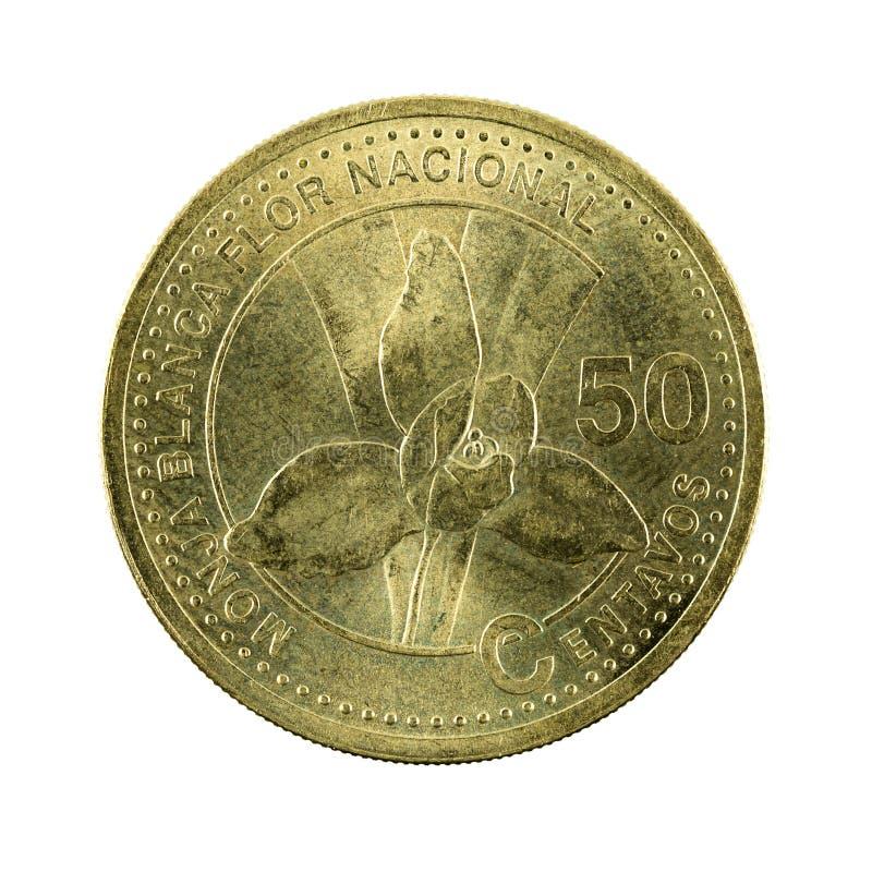 för centavomynt för 50 guatemalan avers 2001 arkivfoton