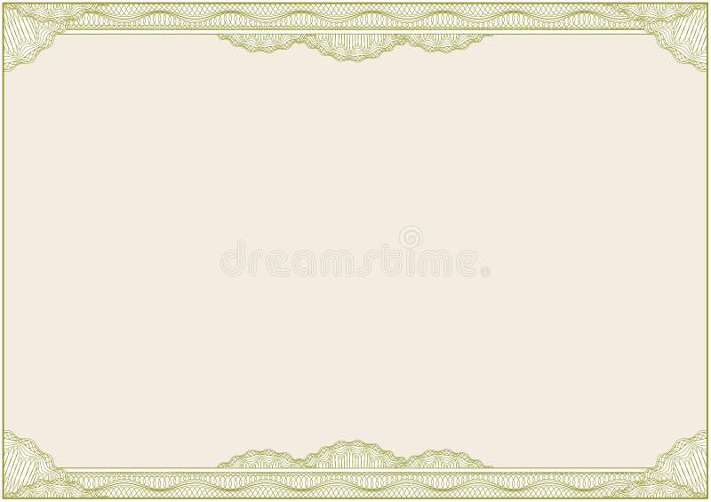 för certifikatdiplom för kant a4 vektor royaltyfri illustrationer