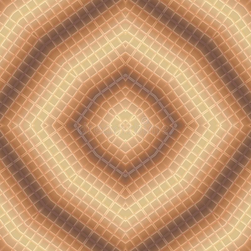 För chokladtegelplatta för sömlös rund mosaik beige brun modell för prydnad vektor illustrationer