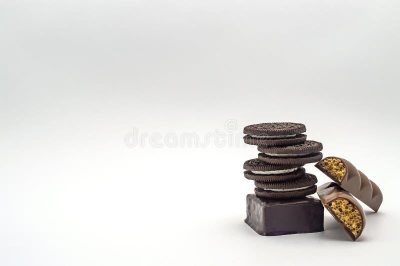 För chokolatenärbild för godis söt mutter för karamell för kräm för isolat royaltyfri foto