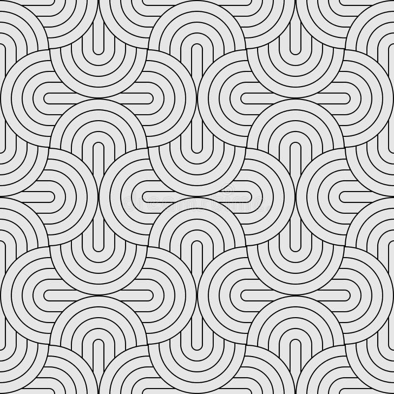 För cirkelabstrakt begrepp för modell sömlös bakgrund för våg royaltyfri bild