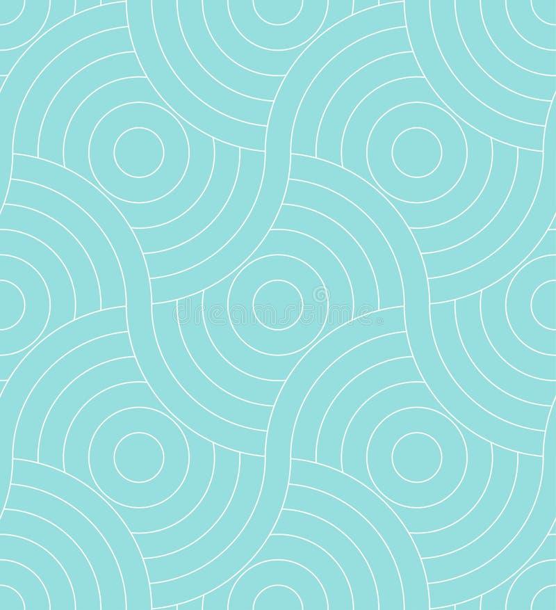 För cirkelabstrakt begrepp för modell sömlös bakgrund för våg arkivfoto