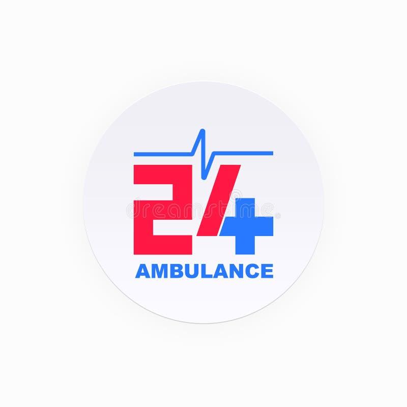 För cirkelambulans för sjukvård och för medicinsk service symbol arkivfoton