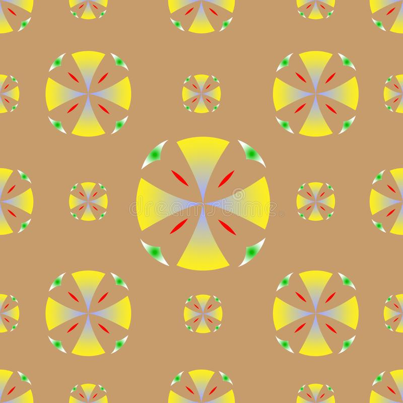 För cirkelbakgrund för sömlös textur gul vektor vektor illustrationer