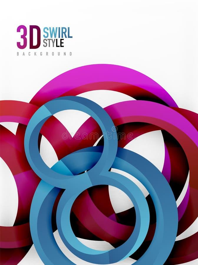 För cirkeldesign för vektor 3d bakgrund royaltyfri illustrationer