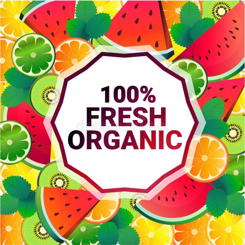 För cirkelkopia för vattenmelon mönstrar bantar organiska over nya frukter för färgrikt utrymme bakgrund, sund livsstil eller beg vektor illustrationer