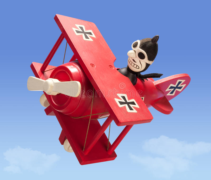 för clippingbana för flygplan antik toy arkivbild