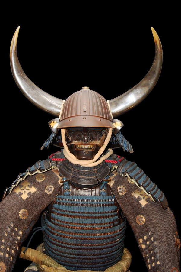 för clippingbana för pansar svart samurai royaltyfri fotografi