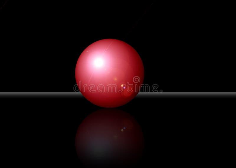 för clippinglapp för boll 3d red royaltyfri foto