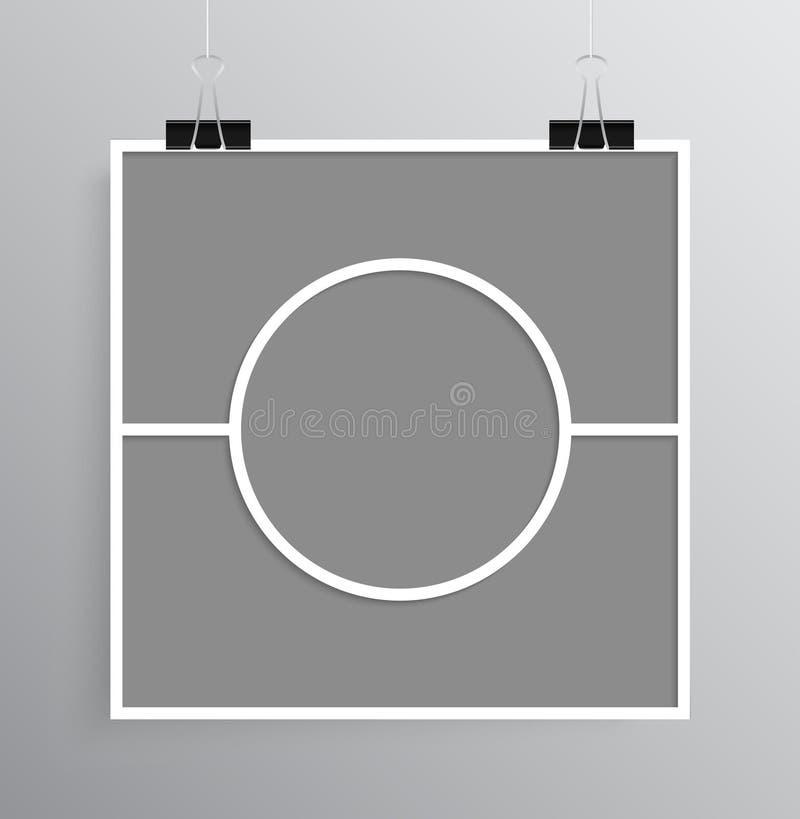 För collagebräde tre för vektor tomma ramar, foto stock illustrationer