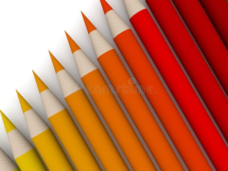 för crayonred för 2 färg spectrum vektor illustrationer