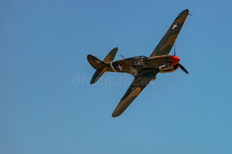 ` för Curtiss P-40M ` WARHAWK, royaltyfria foton