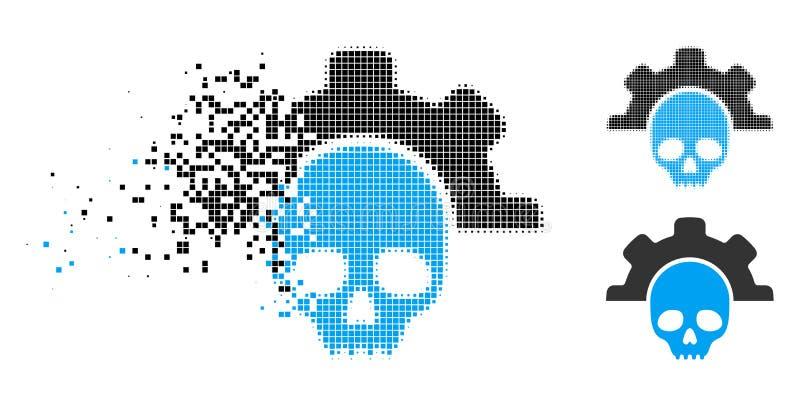 För dödhjälpmedel för rörande PIXEL rastrerad symbol royaltyfri illustrationer