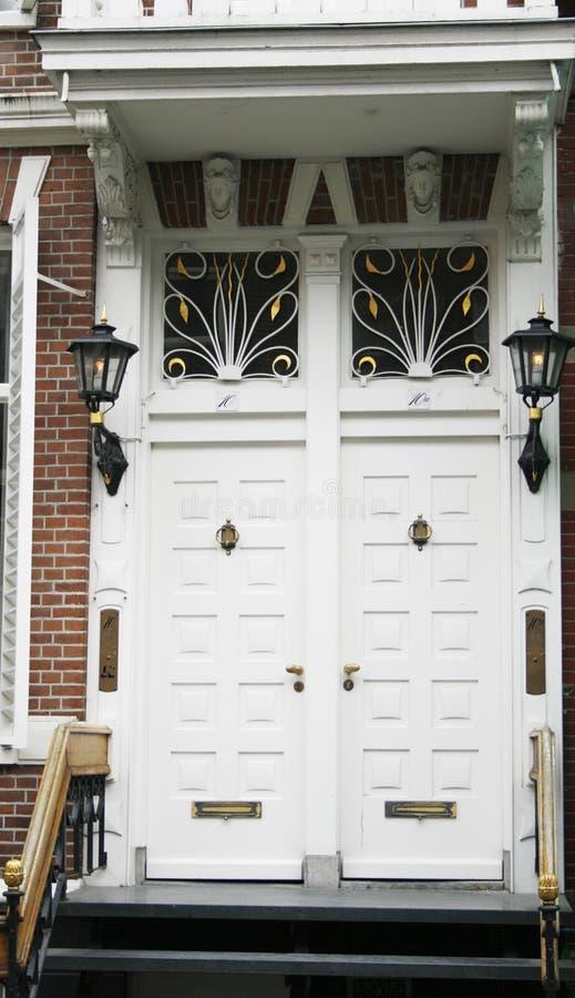 för dörrnouveau för konst härlig white royaltyfria foton