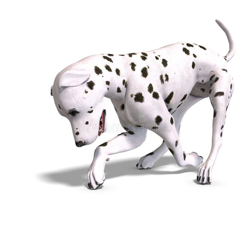 för dalmationhund för clipping 3d framförande för bana royaltyfri illustrationer
