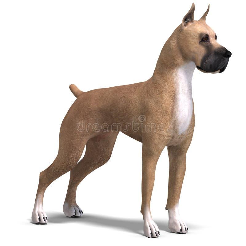för danehund för clipping 3d framförande för bana stort vektor illustrationer