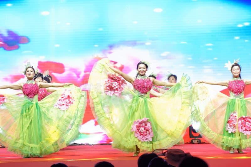 För dans-kvinnor för kines dröm- berömmar för handelskammare entreprenörer royaltyfria foton