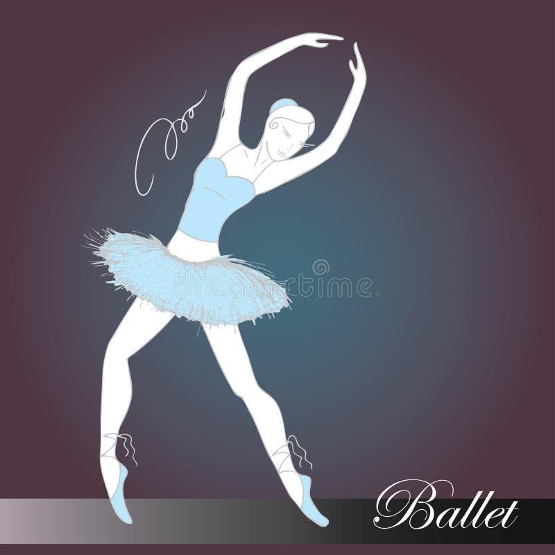 för dansaredesign för balett härlig illustration vektor illustrationer