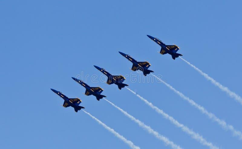 för demonstrationsmarin för änglar blå skvadron oss royaltyfria foton