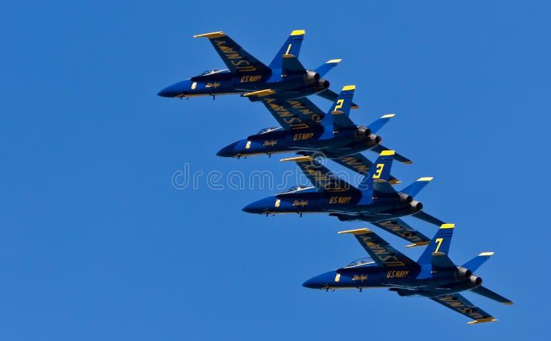 för demonstrationsmarin för änglar blå skvadron oss arkivfoto