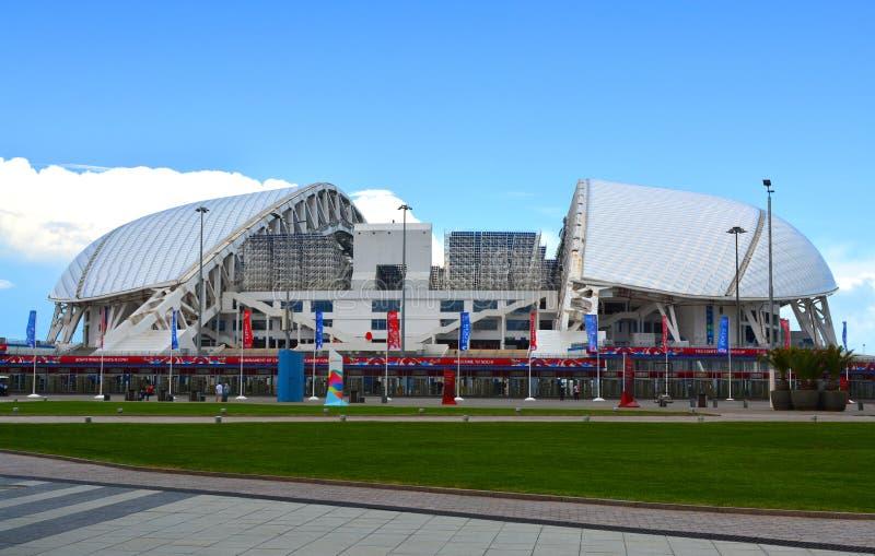 För den FIFA förbundkoppen i olympiska Sochi parkerar royaltyfria bilder