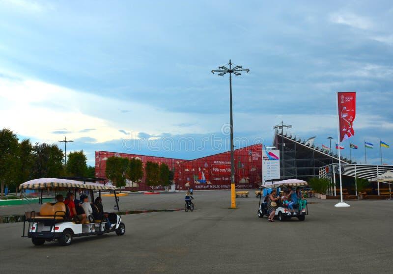 För den FIFA förbundkoppen i olympiska Sochi parkerar royaltyfri bild
