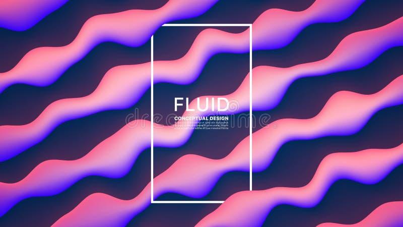 För designabstrakt begrepp för vektor fluid bakgrund royaltyfri illustrationer