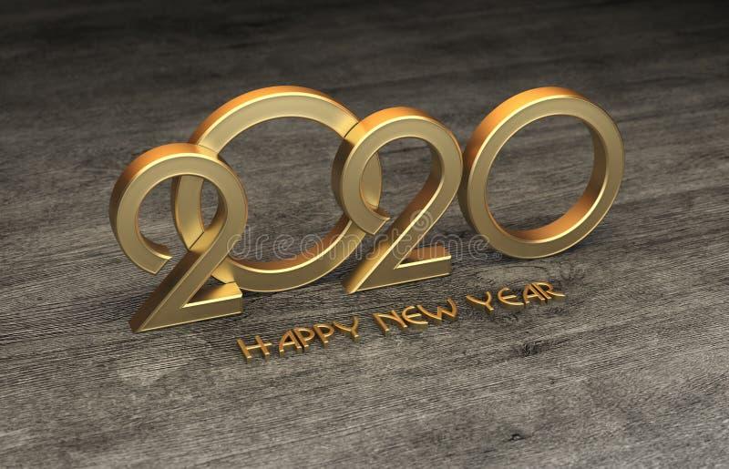 För designConceptNew för nytt år 2020 idérik begrepp för design år 2020 idérikt med klockan arkivbild