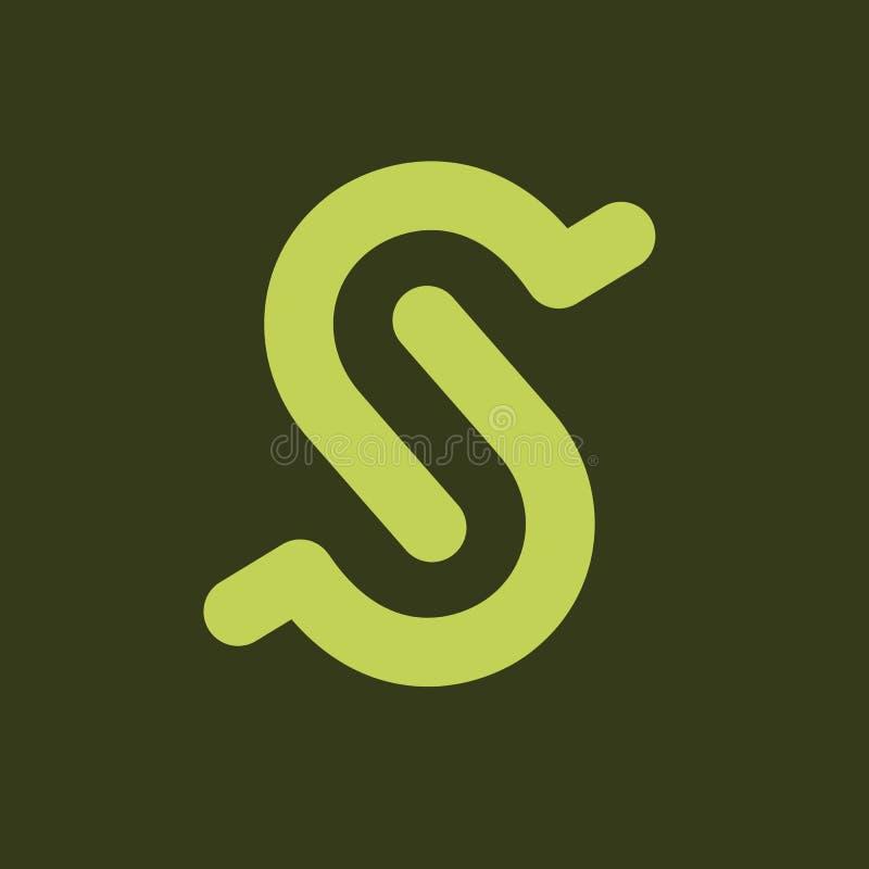 För designmall för initial bokstav S beståndsdelar vektor illustrationer