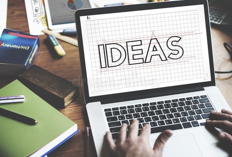 För designutkast för idéer idérikt begrepp för diagram royaltyfria bilder