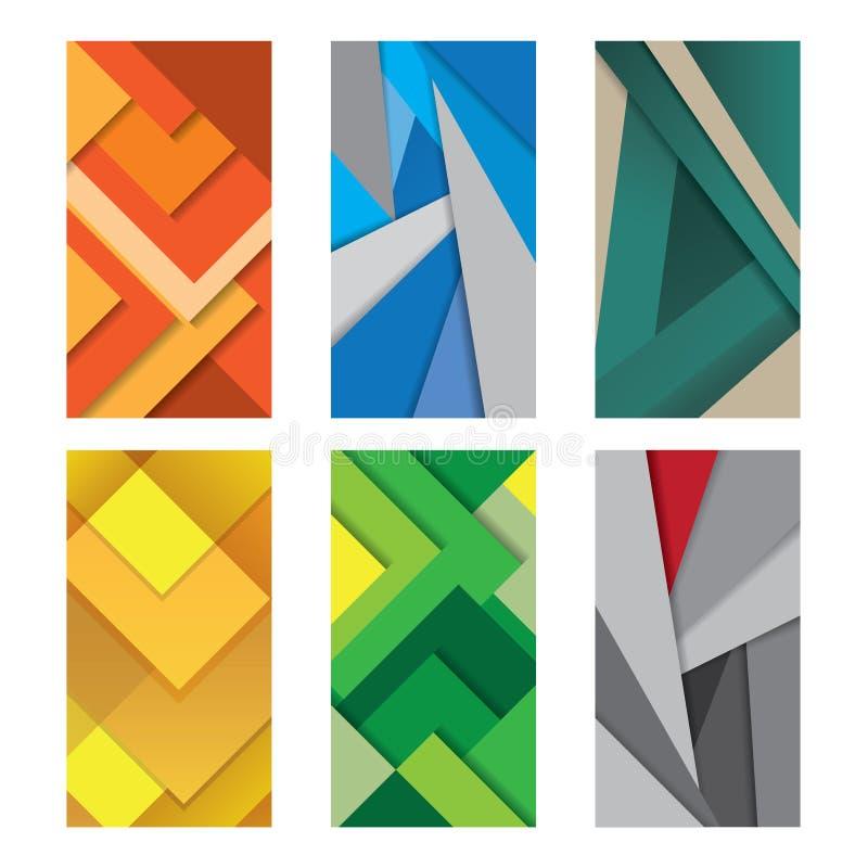 För designvektor för bakgrund ovanlig modern materiell illustration royaltyfri illustrationer