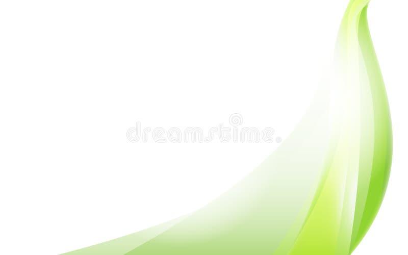 För designvit för grön våg en bakgrund royaltyfri illustrationer