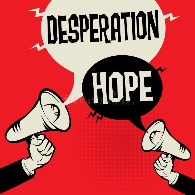 För desperation hopp kontra royaltyfri illustrationer