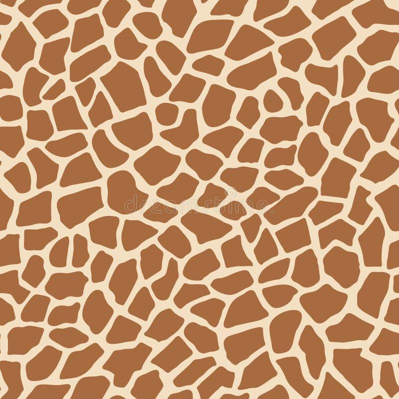 För djur sömlös modell tryckvektor för giraff royaltyfri illustrationer