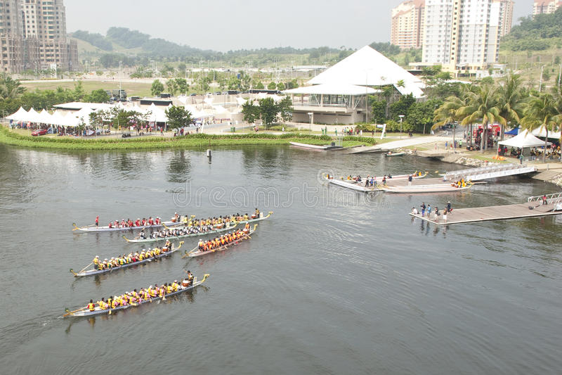 för drakefestival för fartyg 1malaysia international 2010 arkivbild