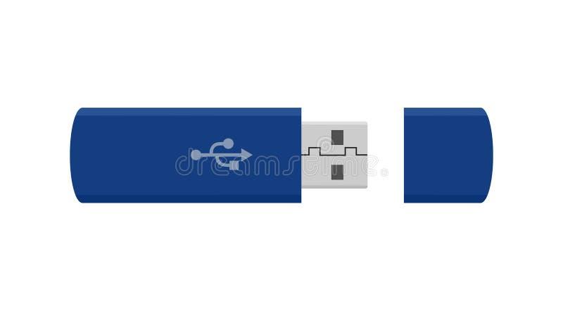 För drevsymbol för Usb prålig bild för teknologi för apparat för dator vektor illustrationer