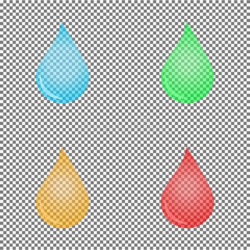 för droppmapp för ai tillgängligt vatten för illustration stock illustrationer