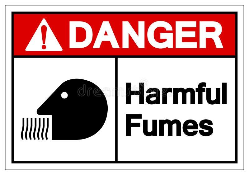 För dunstsymbol för fara skadligt tecken, vektorillustration, isolat på den vita bakgrundsetiketten EPS10 stock illustrationer