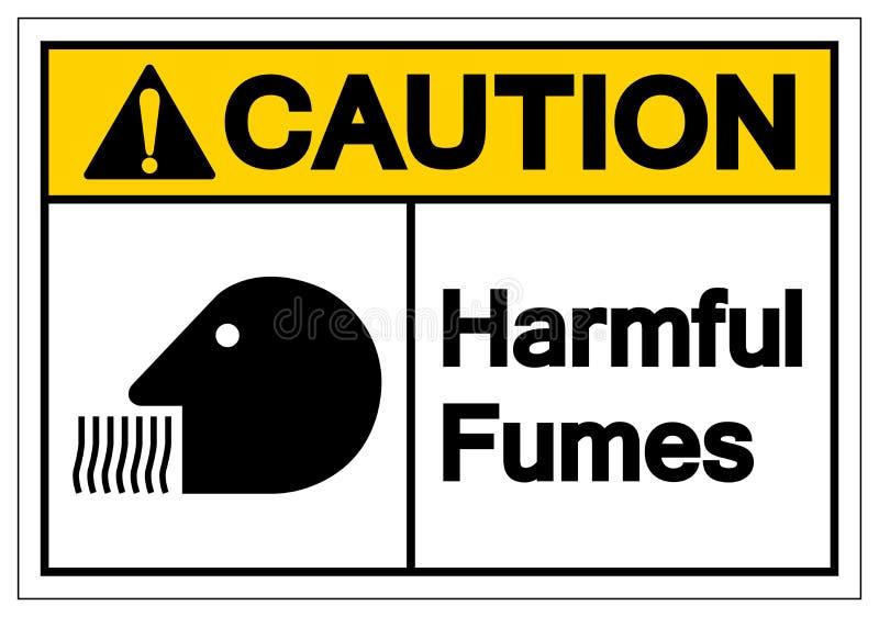 För dunstsymbol för varning skadligt tecken, vektorillustration, isolat på den vita bakgrundsetiketten EPS10 royaltyfri illustrationer