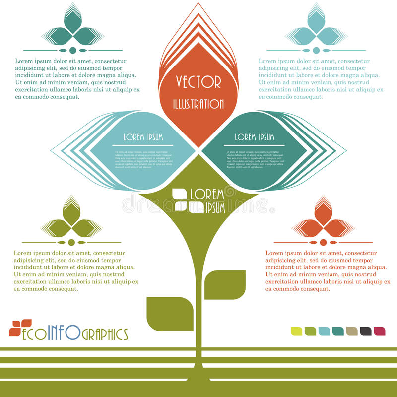 För ekologiaffär för modern design mall. stock illustrationer